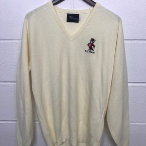 Vintage n.c. State sweater v neck 80's